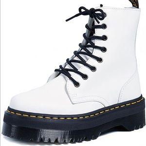 Dr. Martens Jadon Smooth Leather Boots.